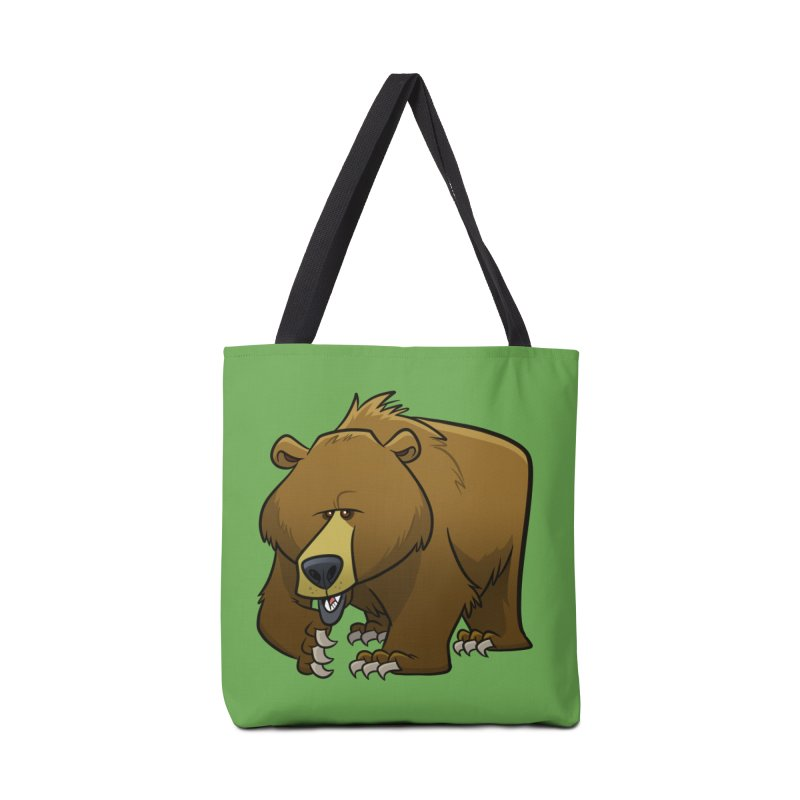 Grizzly Bear Accessories Bag by binarygod's Artist Shop