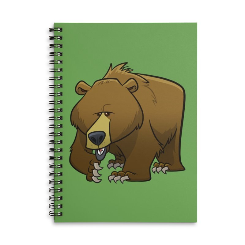 Grizzly Bear Accessories Notebook by binarygod's Artist Shop