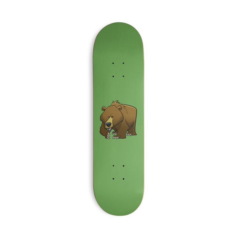 Grizzly Bear Accessories Skateboard by binarygod's Artist Shop