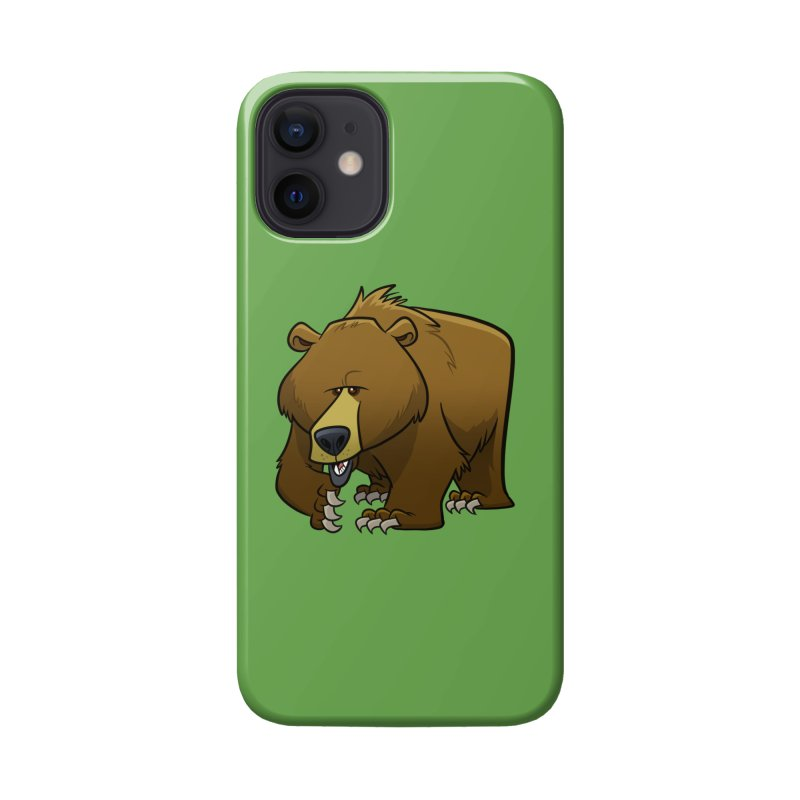 Grizzly Bear Accessories Phone Case by binarygod's Artist Shop