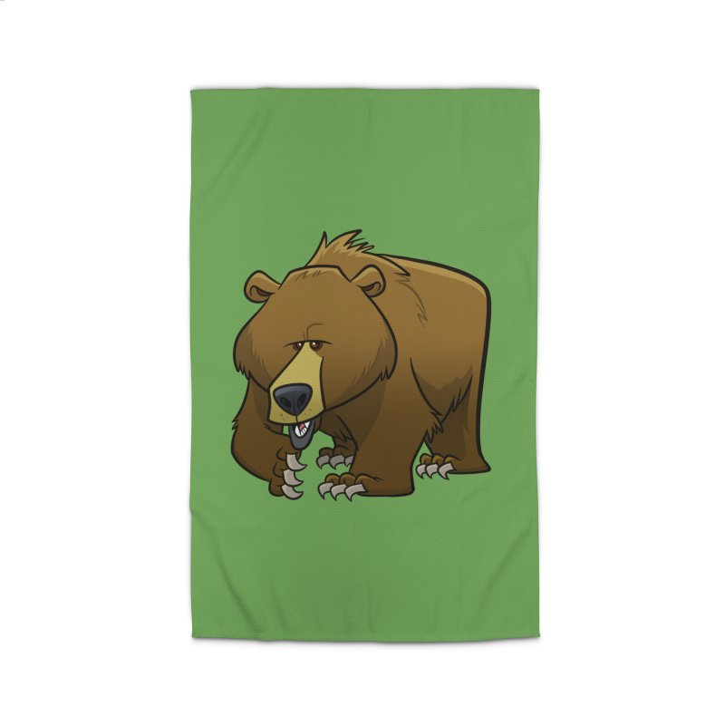 Grizzly Bear Home Rug by binarygod's Artist Shop