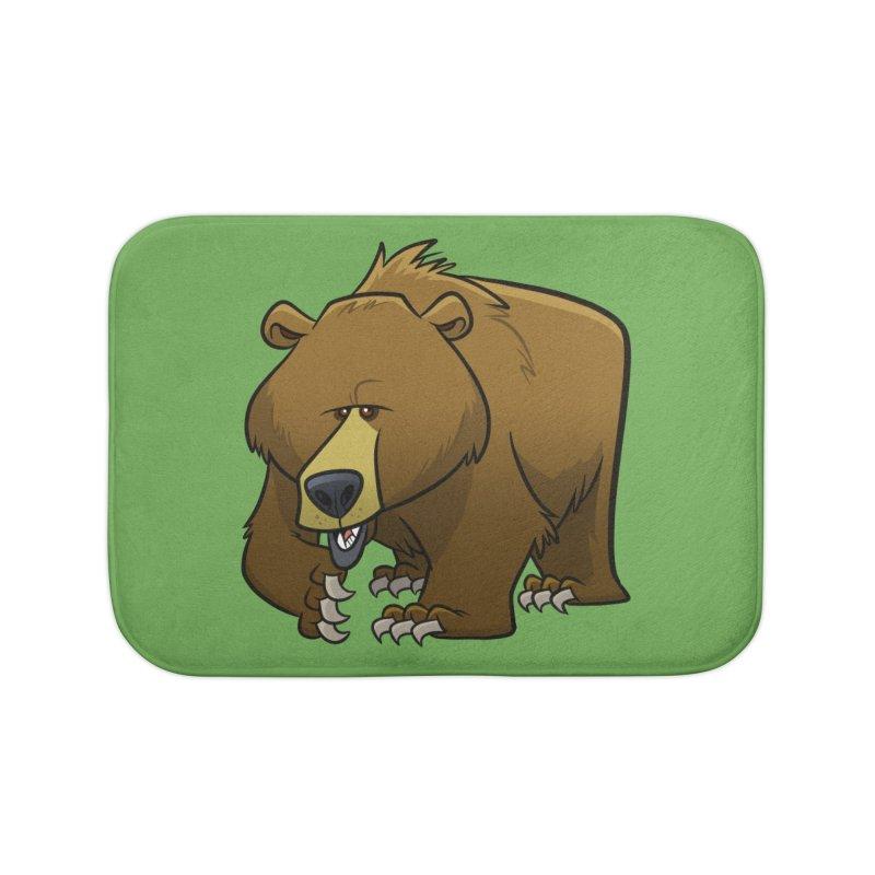 Grizzly Bear Home Bath Mat by binarygod's Artist Shop