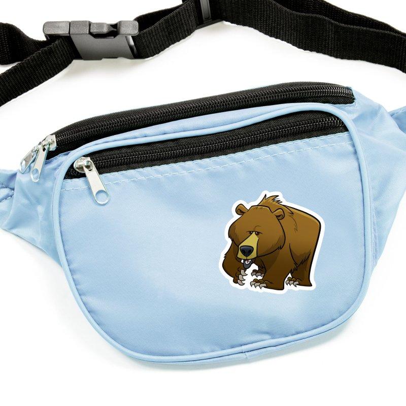 Grizzly Bear Accessories Sticker by binarygod's Artist Shop