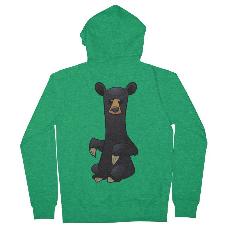 Black Bear Men's Zip-Up Hoody by binarygod's Artist Shop
