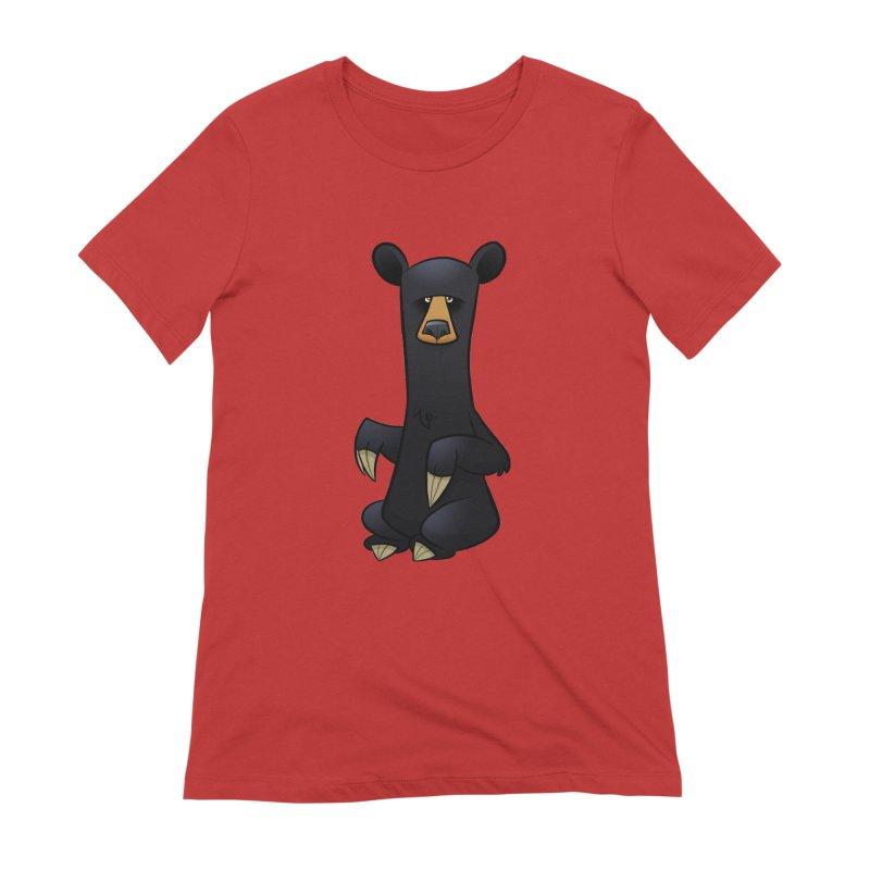 Black Bear Women's T-Shirt by binarygod's Artist Shop