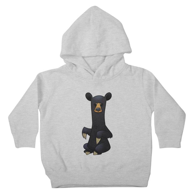 Black Bear Kids Toddler Pullover Hoody by binarygod's Artist Shop