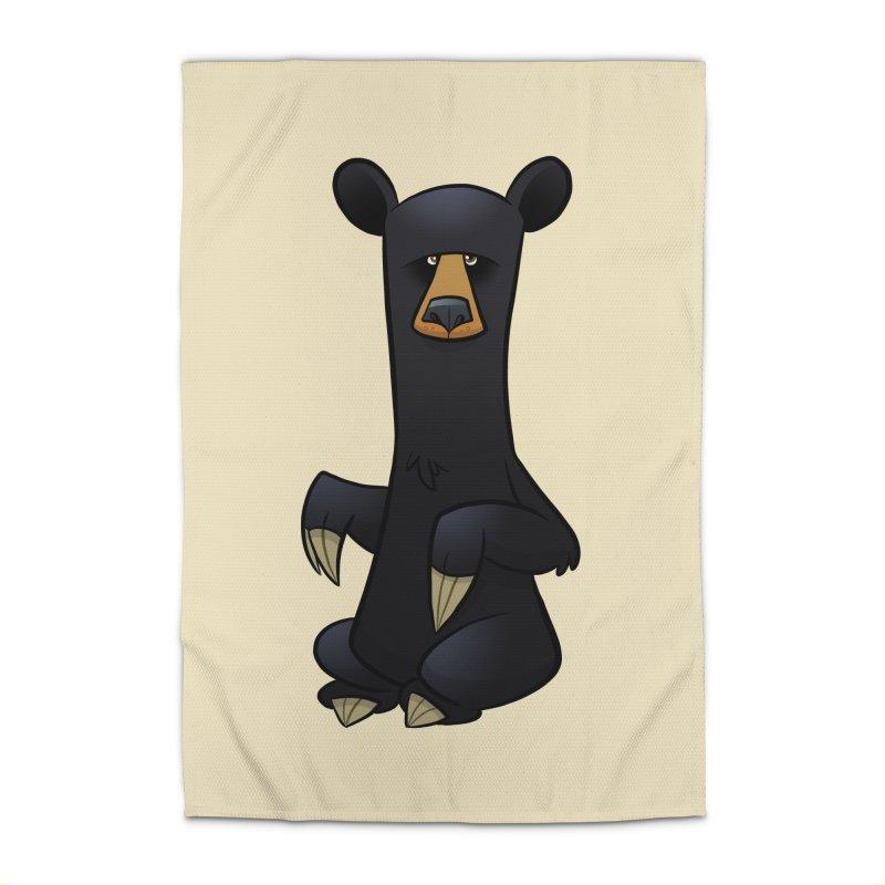 Black Bear Home Rug by binarygod's Artist Shop