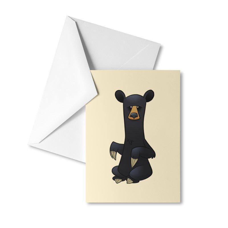 Black Bear Accessories Greeting Card by binarygod's Artist Shop