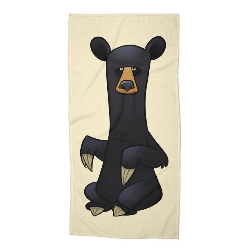 Black Bear Accessories Beach Towel by binarygod's Artist Shop