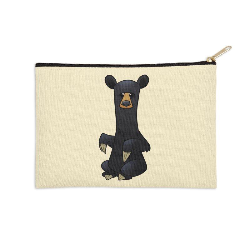 Black Bear Accessories Zip Pouch by binarygod's Artist Shop