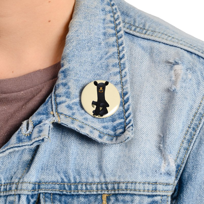 Black Bear Accessories Button by binarygod's Artist Shop