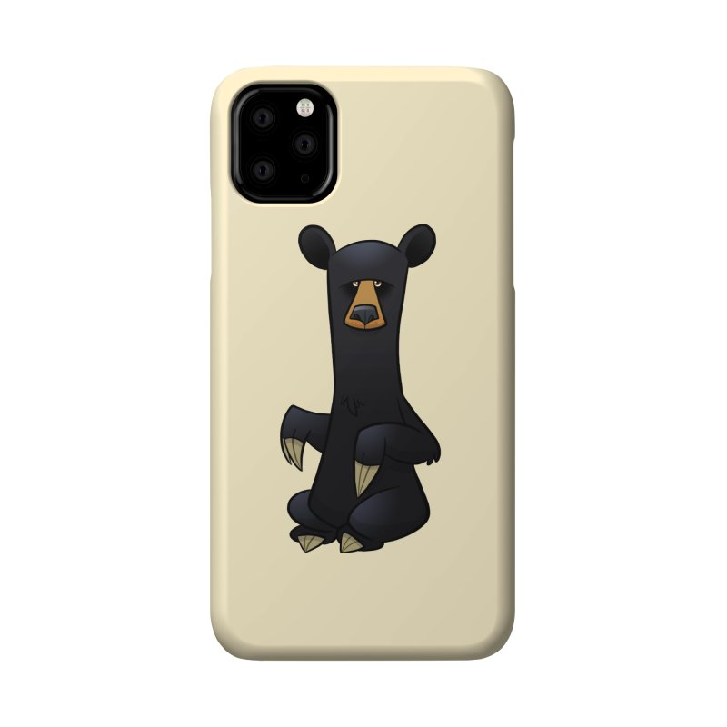 Black Bear Accessories Phone Case by binarygod's Artist Shop