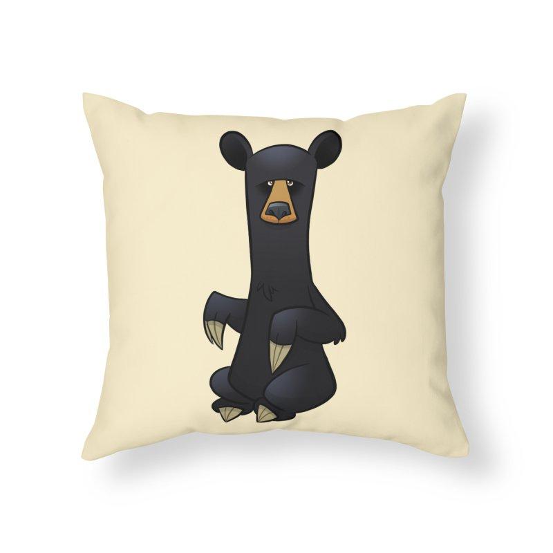 Black Bear Home Throw Pillow by binarygod's Artist Shop