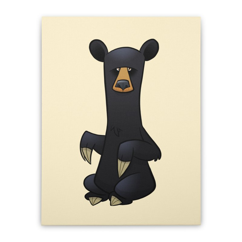 Black Bear Home Stretched Canvas by binarygod's Artist Shop