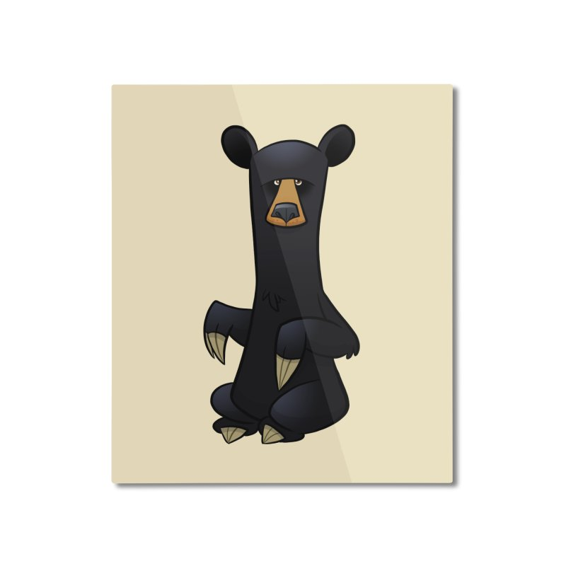 Black Bear Home Mounted Aluminum Print by binarygod's Artist Shop