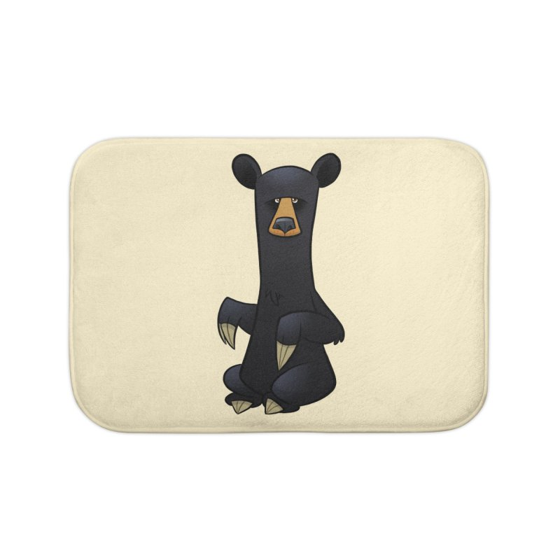 Black Bear Home Bath Mat by binarygod's Artist Shop
