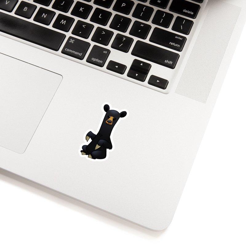 Black Bear Accessories Sticker by binarygod's Artist Shop