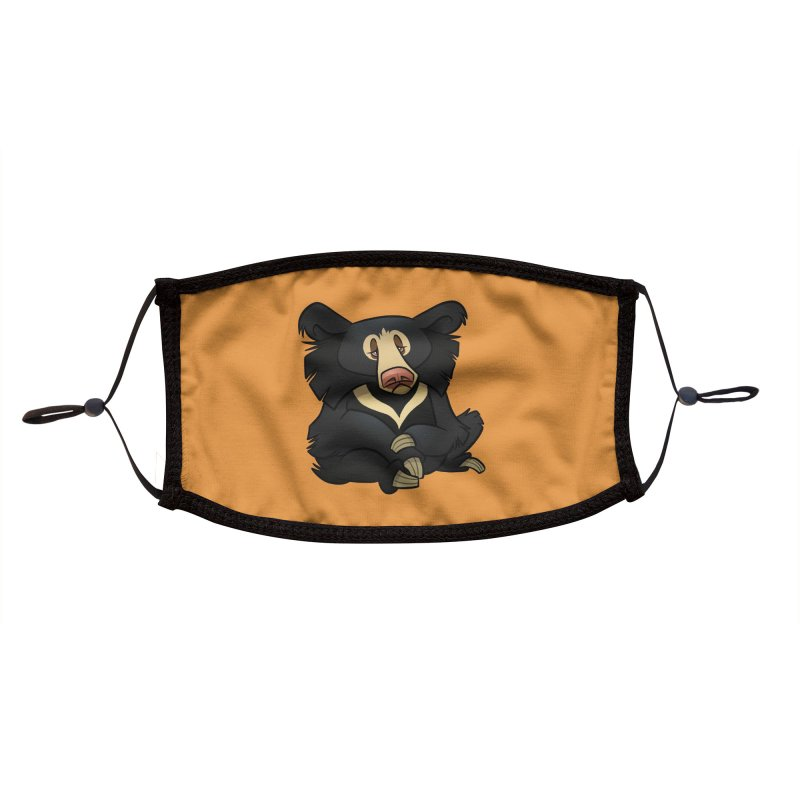 Sloth Bear Accessories Face Mask by binarygod's Artist Shop