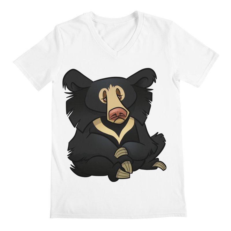 Sloth Bear Men's V-Neck by binarygod's Artist Shop