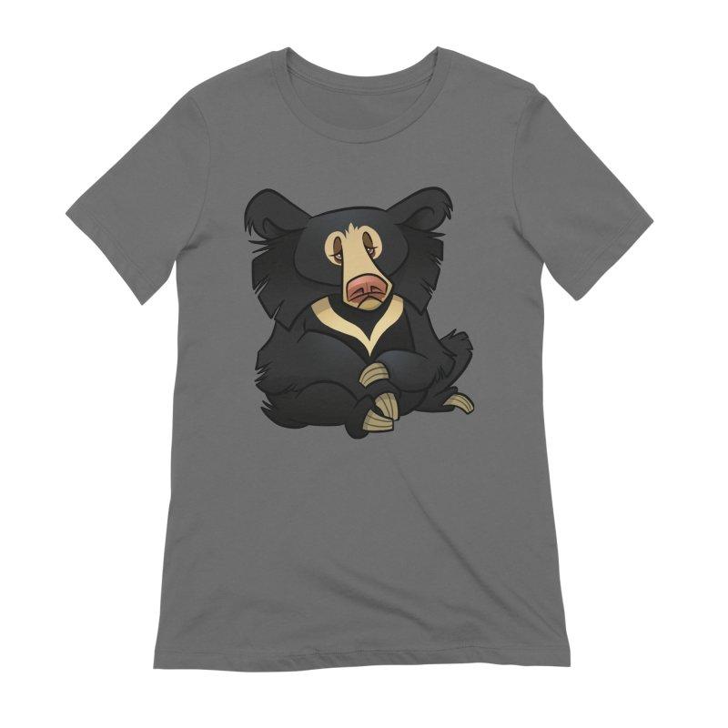 Sloth Bear Women's T-Shirt by binarygod's Artist Shop