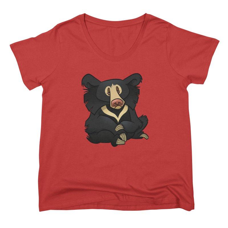 Sloth Bear Women's Scoop Neck by binarygod's Artist Shop