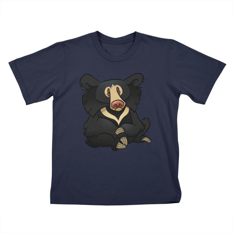Sloth Bear Kids T-Shirt by binarygod's Artist Shop