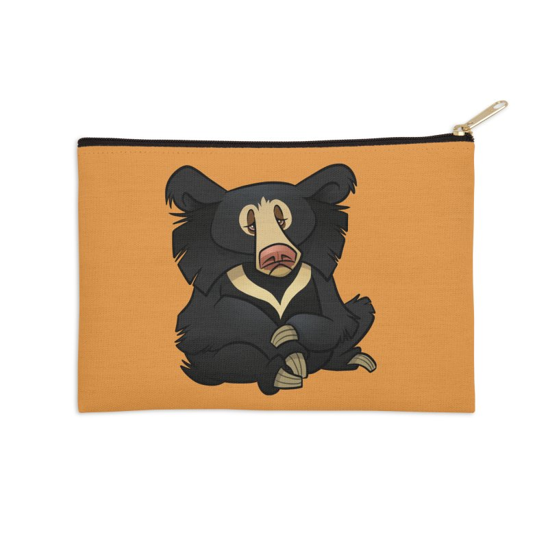 Sloth Bear Accessories Zip Pouch by binarygod's Artist Shop