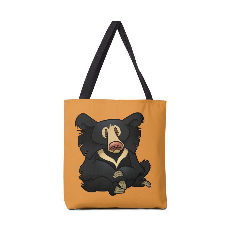Sloth Bear Accessories Bag by binarygod's Artist Shop