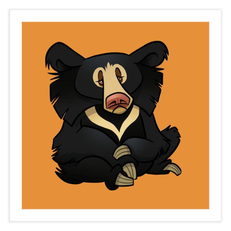 Sloth Bear Home Fine Art Print by binarygod's Artist Shop