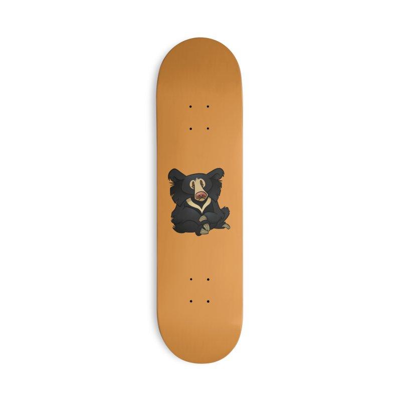 Sloth Bear Accessories Skateboard by binarygod's Artist Shop