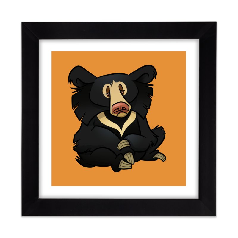 Sloth Bear Home Framed Fine Art Print by binarygod's Artist Shop