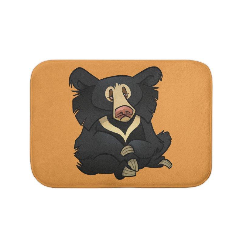 Sloth Bear Home Bath Mat by binarygod's Artist Shop