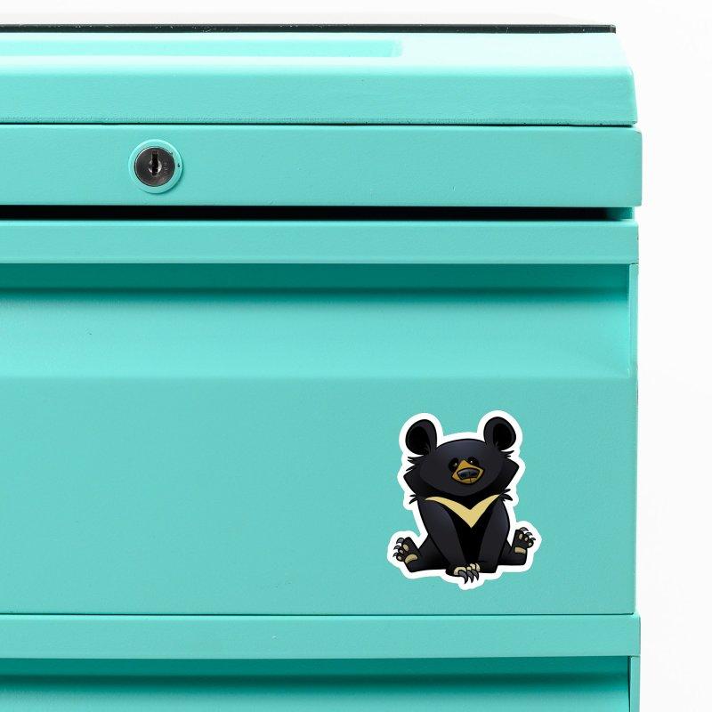 Moon Bear Accessories Magnet by binarygod's Artist Shop