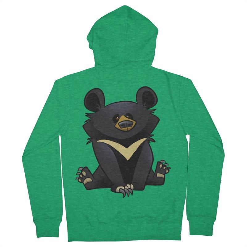 Moon Bear Men's Zip-Up Hoody by binarygod's Artist Shop