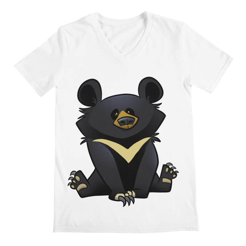 Moon Bear Men's V-Neck by binarygod's Artist Shop