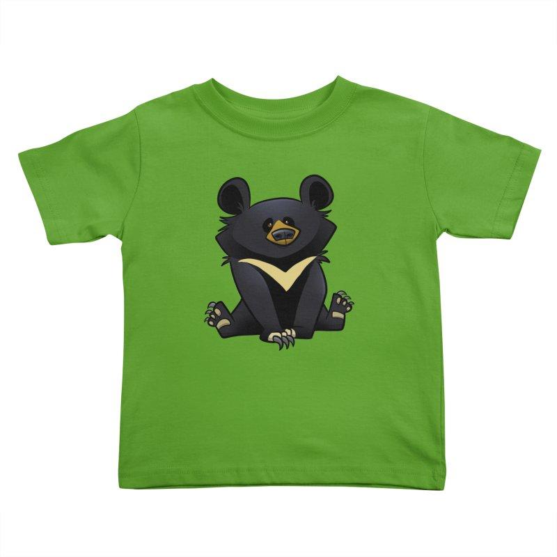 Moon Bear Kids Toddler T-Shirt by binarygod's Artist Shop