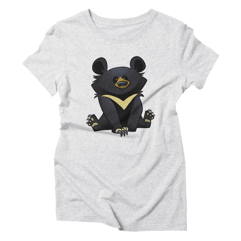 Moon Bear Women's T-Shirt by binarygod's Artist Shop