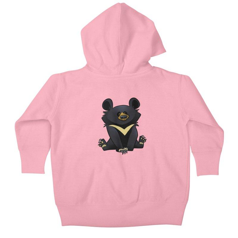 Moon Bear Kids Baby Zip-Up Hoody by binarygod's Artist Shop