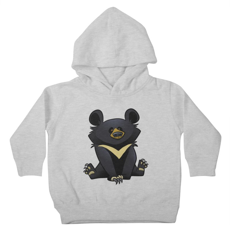 Moon Bear Kids Toddler Pullover Hoody by binarygod's Artist Shop