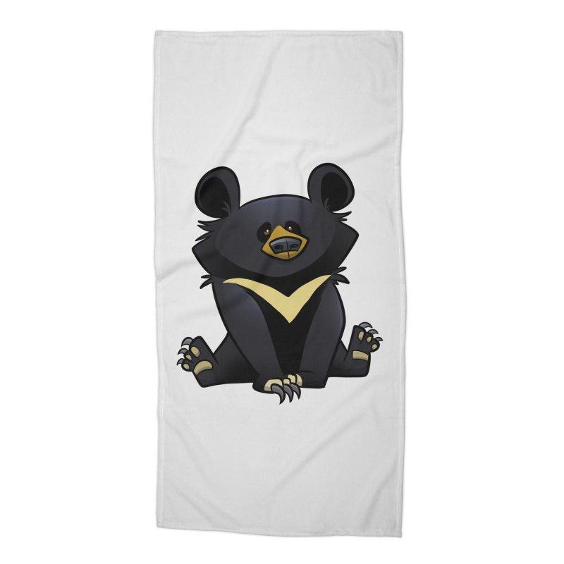 Moon Bear Accessories Beach Towel by binarygod's Artist Shop