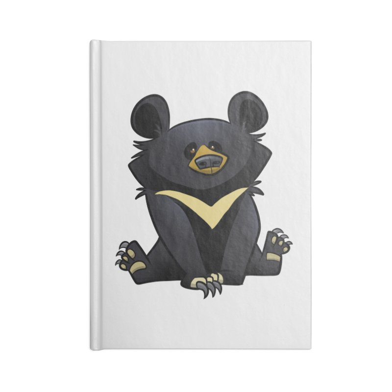 Moon Bear Accessories Notebook by binarygod's Artist Shop