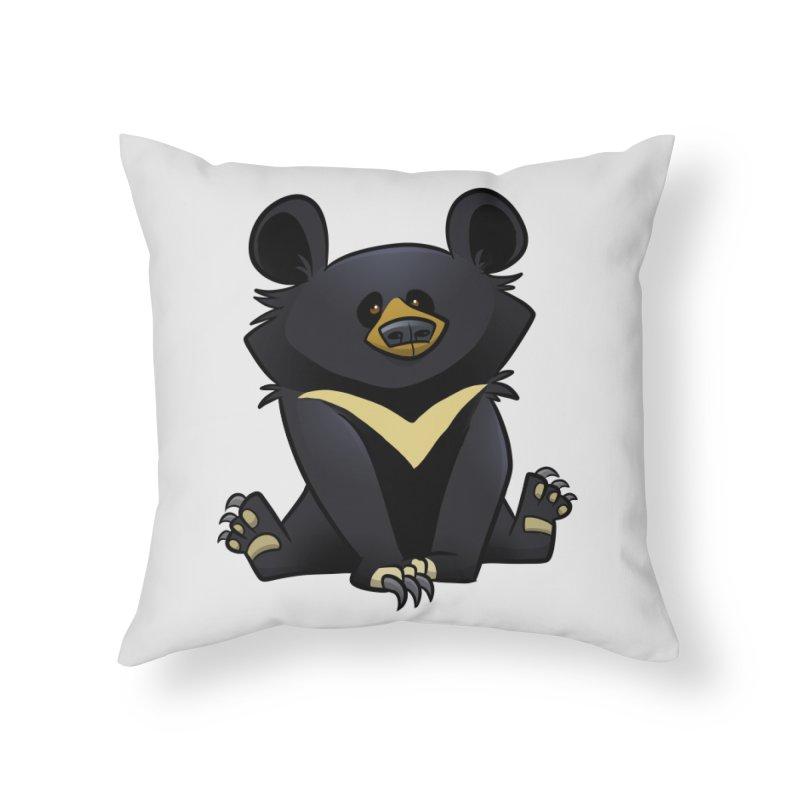 Moon Bear Home Throw Pillow by binarygod's Artist Shop