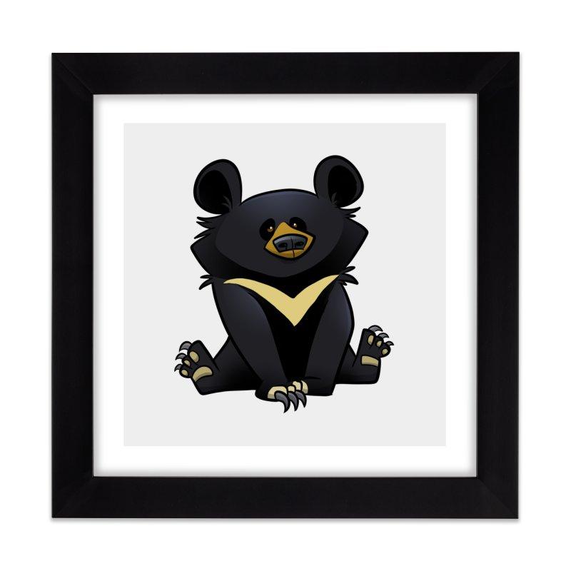 Moon Bear Home Framed Fine Art Print by binarygod's Artist Shop