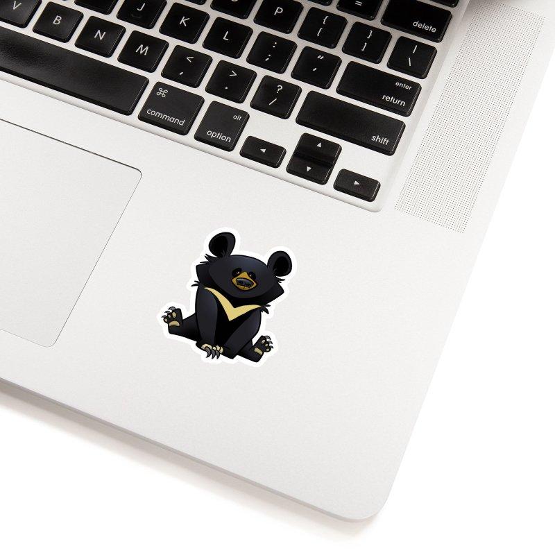 Moon Bear Accessories Sticker by binarygod's Artist Shop