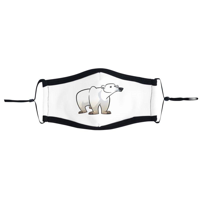 Polar Bear Accessories Face Mask by binarygod's Artist Shop
