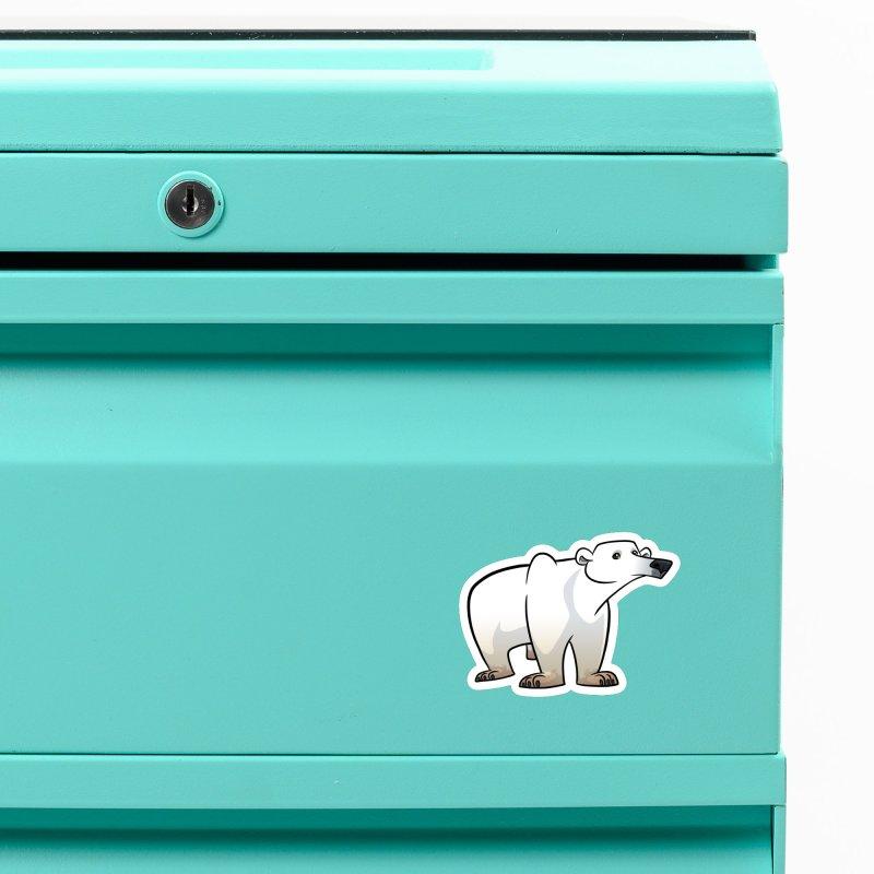Polar Bear Accessories Magnet by binarygod's Artist Shop