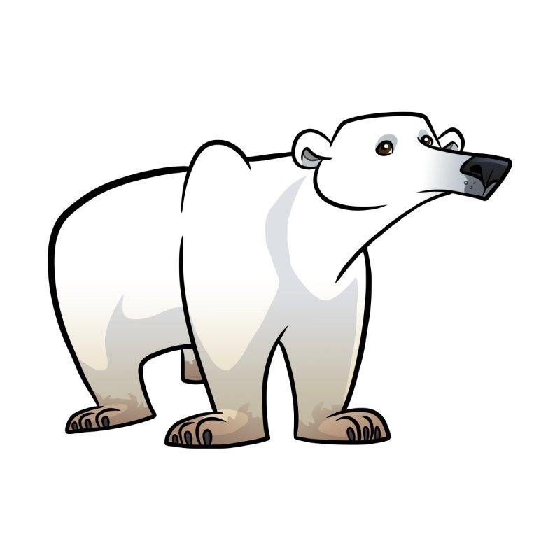 Polar Bear Home Throw Pillow by binarygod's Artist Shop