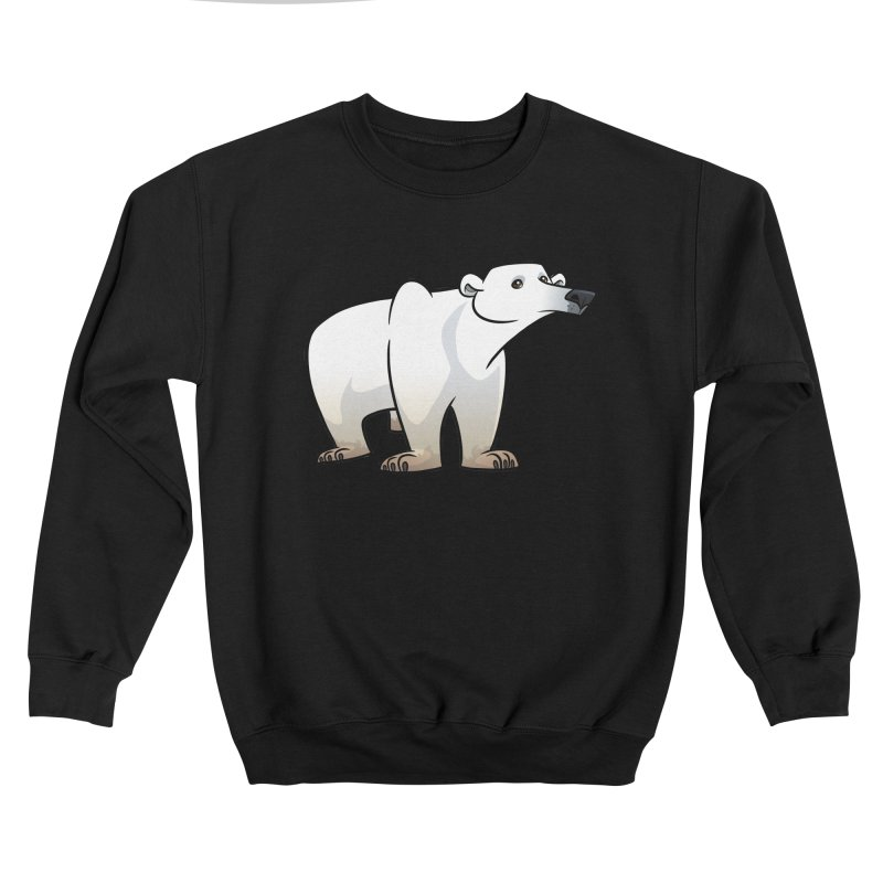Polar Bear Men's Sweatshirt by binarygod's Artist Shop