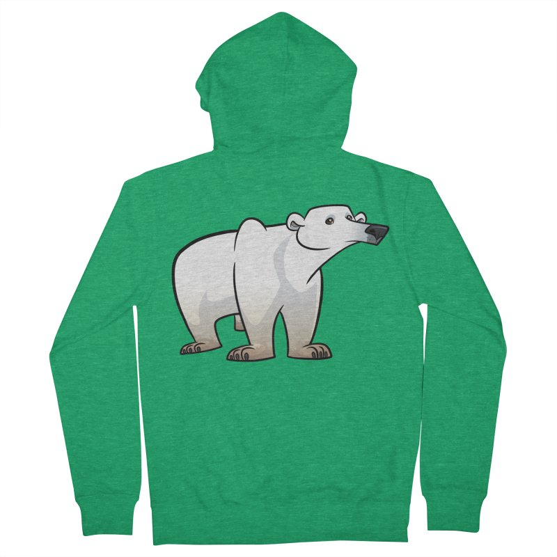 Polar Bear Women's Zip-Up Hoody by binarygod's Artist Shop