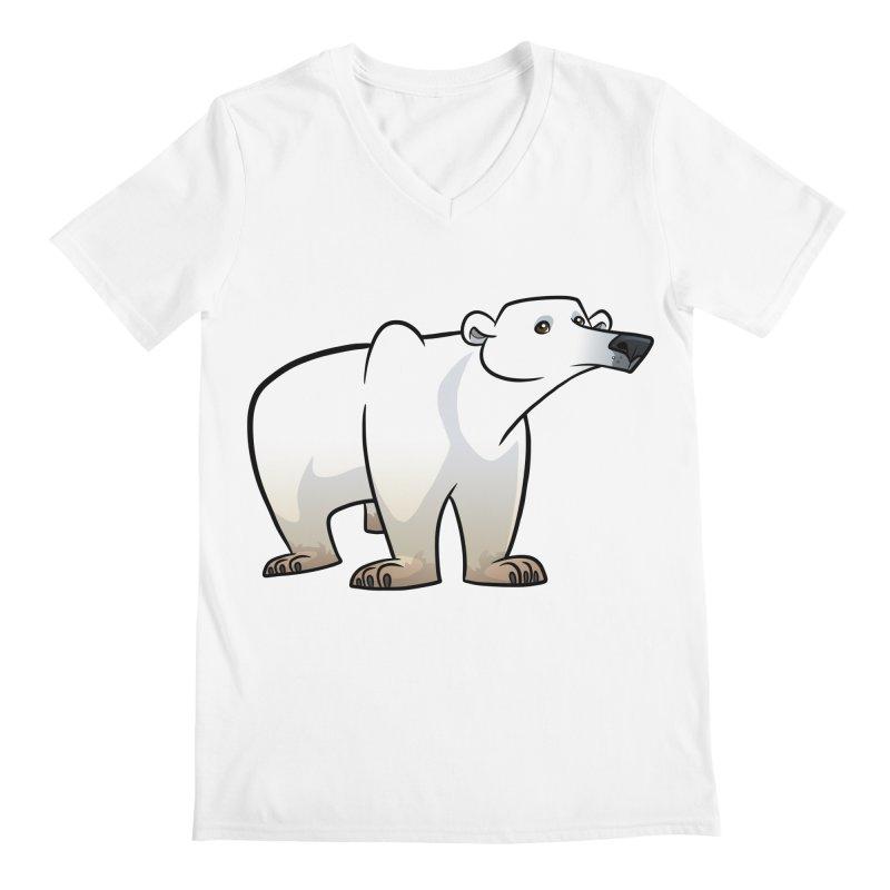 Polar Bear Men's V-Neck by binarygod's Artist Shop